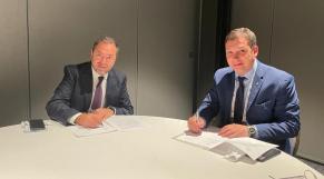 Accord de coopération - Hamid Addou, PDG de RAM - Avigal Soreq, PDG d El Al - Boston - IATA