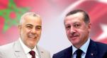 Benkirane et Erdogan Avec drapeaux
