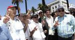 Leaders politiques-marche Gaza-Rabat