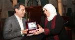 Rachid Andaloussi, président de l'Association Casamémoire.et Mme Laila Ghanem,Mairesse de Ramallah.