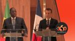 Macky Sall et Macron en conférence de presse à Dakar