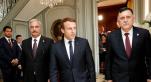 Macron et responsables libyens