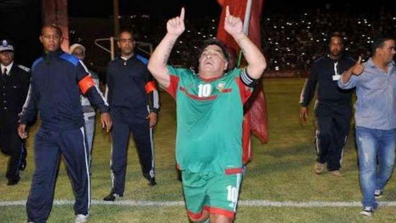 CAN 2017: Diego Maradona félicite les Lions de l'Atlas