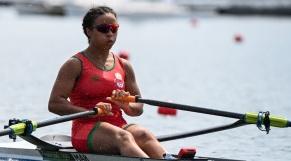 Sarah Fraincart aux Jeux Olympiques de Tokyo.