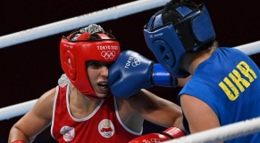 La boxeuse Oumaima Bel Ahbib.