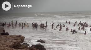 Foum El Oued - Laâyoune - Eté 2021 - Baigneurs - Plage - Sahara marocain