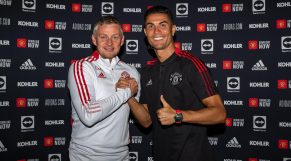 Ole Gunnar Solskjaer et Cristiano Ronaldo.