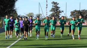 Première séance d'entrainement des Lions de l'Atlas, lundi 4 octobre, au complexe Mohammed VI.