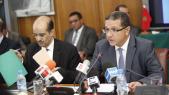 Mohamed Boussaid, ministre de l'Economie et des Finances - Driss El Yazami ministre déléguée chargé du Budget