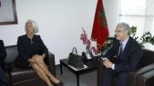 christine Lagarde et Nizar Baraka