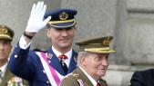 Le prince Felipe et son prère Juan Carlos
