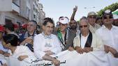 Mohand Laenser et Saad Eddine El Othmani-marche Rabat-Gaza