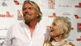 Eve et Richard Branson