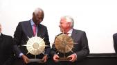 Abdou Diouf ex Président du Sénégal et ex SG de la Francophonie et Felipe González Ancien Président du gouvernement d'Espagne