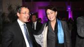 Khalid Chami Président du Directoire Société générale Maroc et Mme Rita Zniber