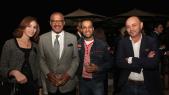 Dwight Bush, l'ambassadeur des Etats-Unis au Maroc.entouré de le couple Barry et de khalil Nemmaoui