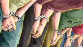 Menottes arrestation dessin