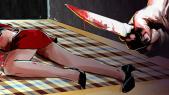 Meurtre femme couteau dessin
