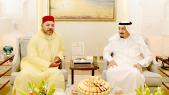 le roi Mohammed VI et le roi d'Arabie