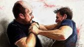 Agression bagarre dessin