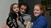 Mohamed Fariji, Léa Morin et leur petite fille