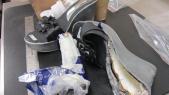 cocaine dans chaussures