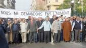 Marche des retraités algérien de l'armée