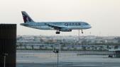 Un avion de la Qatar Airways