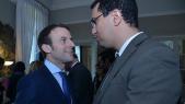 M'jid El Guerrab et Emmanuel Macron