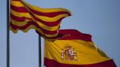 Drapeaux espagnol et catalan