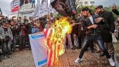 palestiniens drapeau brulé