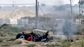 Manifestants palestiniens, heurts