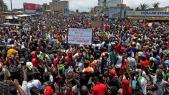 manifestants au Togo