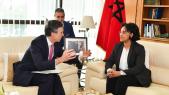 Mounia Boucetta et et Andrew Murrison MP