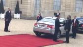 Mohammed VI et Macron à l'Elysée