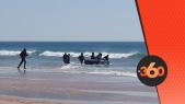 cover Video -  Le360.ma • المهاجرون الأفارقة يستغلون مباراة المغرب ويكتسحون شواطئ طنجة