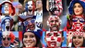 mur de fans France Croatie