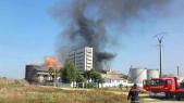 L'usine où l'incendie s'est déclaré à Kénitra
