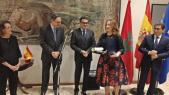 Fayçal Laâraïchi, patron de la SNRT, aux cotés de l'ambassadeur de l'Espagne au Maroc, Ricardo Diez Hochleitner.
