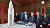 """Le roi Mohammed VI préside au lancement officiel de la construction de la """"Tour Mohammed VI"""" à Salé"""
