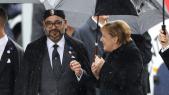 Le roi Mohammed VI et Angela Merkel à Paris