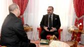 Le roi Mohammed VI et Ahmed Chaouki Benayoub