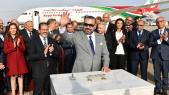 Roi Mohammed VI à l'aéroport de Rabat-Salé