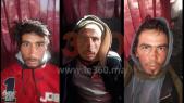Les trois suspects arrêtés ce jeudi. De gauche à droite: Abdessamad Joude, Younès Ouaziyad et Rachid El Afati.