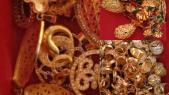 Une partie des bijoux en or saisis