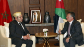 Le Roi Mohammed VI en compagnie du Roi Abdallah II Ibn Al Hussein.