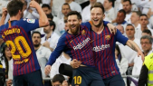 Real v Barça Messi Rakitic
