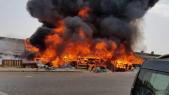 Incendie marché
