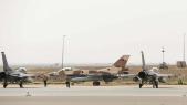 F16 marocains et américains côte-à-côte.