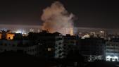 Bombardement israélien dans l'enclave palestinienne de Gaza